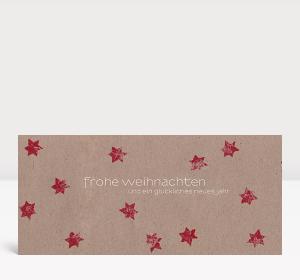 Weihnachtskarte Sternenkarton rot