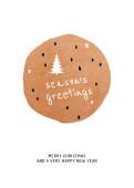 Weihnachtskarte Season's Greetings Kupfer