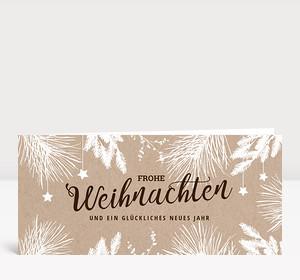Weihnachtskarte Weihnachtszweige