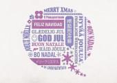 Weihnachtskarte Sprechblase