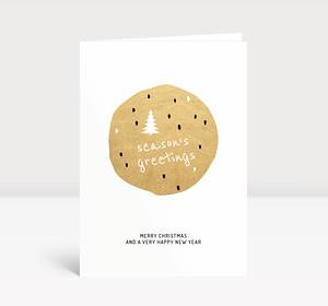 Weihnachtskarte Season's Greetings Gold