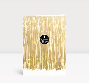 Weihnachtskarte Lametta to go Gold