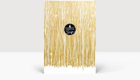 Weihnachtskarte Lametta To Go Gold, Klappkarte Groß Hoch