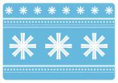 Weihnachtskarte Schneeflocken blau