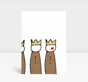Weihnachtskarte Heilige drei Könige