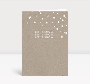 Weihnachtskarte let it snow