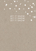 Weihnachtskarte let it snow