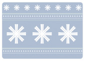 Weihnachtskarte Schneeflocken violett