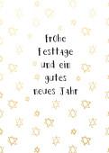 Weihnachtskarte Kritzelsternchen Gold
