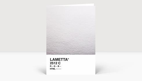 Weihnachtskarte Lametta Silber