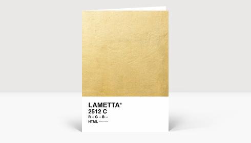 Weihnachtskarte Lametta Gold