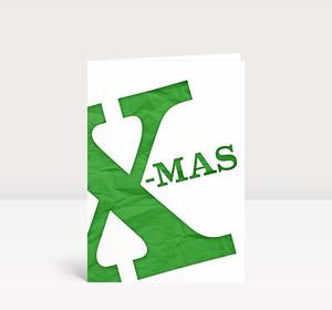 Weihnachtskarte Merry X-Mas