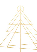 Weihnachtskarte Peace On Earth Gold