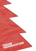 Weihnachtskarte Tanne rotes Papier