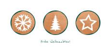 Weihnachtskarte Weihnachtstrio Kupfer Grün