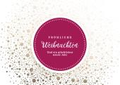 Weihnachtskarte Funkelgold Violett