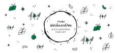 Weihnachtskarte Christmas Scribble Grün