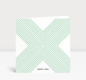 Weihnachtskarte X-MAS Grün