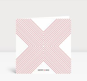 Weihnachtskarte X-MAS Rot