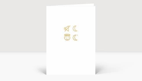 Weihnachtskarte Icons Stille Nacht