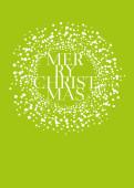 Weihnachtskarte Schneekugel hellgrün