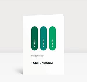 Weihnachtskarte Trendfarben: Tannenbaum