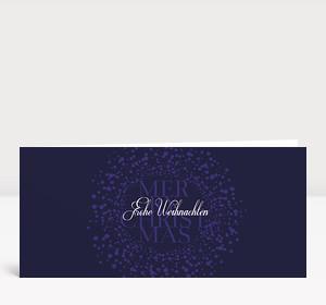 Weihnachtskarte Schneekugel violett