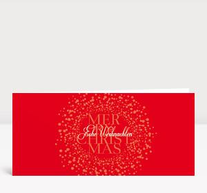 Weihnachtskarte Schneekugel rot