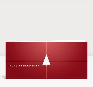 Weihnachtskarte Tannenbaum Geschenk