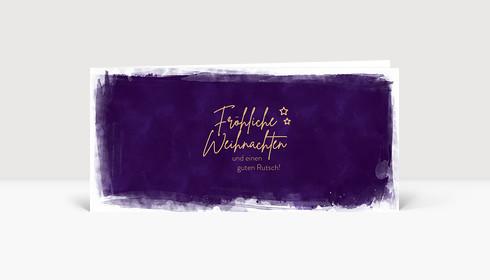 Weihnachtskarte Festlich Violett