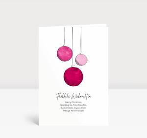 Weihnachtskarte Scribblekugeln Brombeere