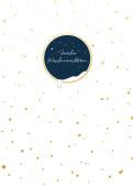 Weihnachtskarte Schneegold Blau