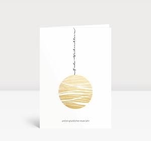 Weihnachtskarte Goldkugel