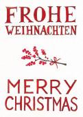 Weihnachtskarte Frohe Weihnachten & Merry Christmas