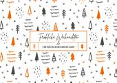 Weihnachtskarte Scribble Wald Orange