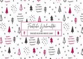 Weihnachtskarte Scribble Wald Violett