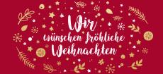 Weihnachtskarte Wunschkugel Rot-Gold