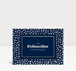 Weihnachtskarte Snowframe Blau