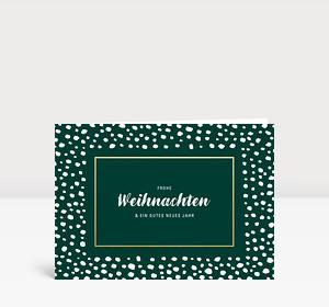 Weihnachtskarte Snowframe Grün