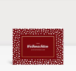 Weihnachtskarte Snowframe Rot