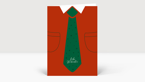 Weihnachtskarte Schlipsträger