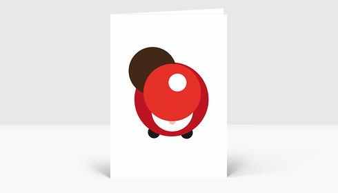 Weihnachtskarte Von Oben