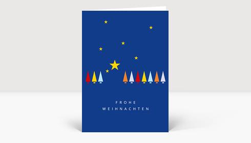 Weihnachtskarte Weihnachtshimmel