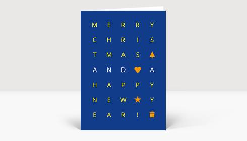 Weihnachtskarte Christmas Grid
