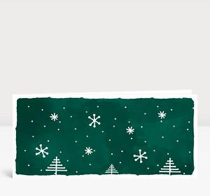 Weihnachtskarte Weihnachtslandschaft Grün