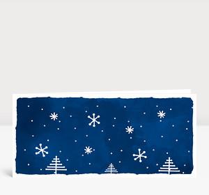 Weihnachtskarte Weihnachtslandschaft Blau