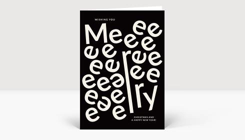 Weihnachtskarte Meeerry Christmas