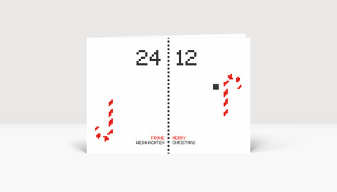 Weihnachtskarte Pong