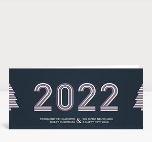 Weihnachtskarte Stripes 2021 Altrosa