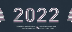 Weihnachtskarte Stripes 2022 Altrosa